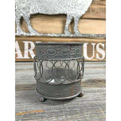 Faux Wrought Iron Candle Holder