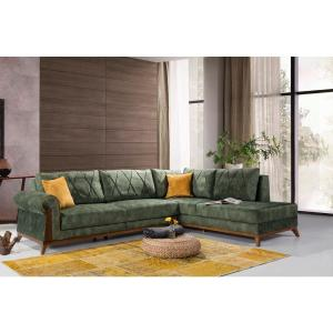 London 2-Piece Green Sectional by