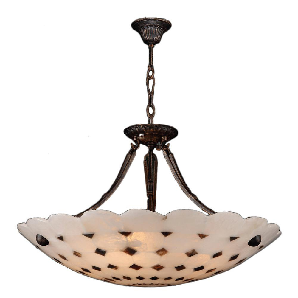 Worldwide Lighting Pompeii 5-Light Flemish Brass Natural Quartz Bowl Large Pendant  sc 1 st  The Home Depot & Worldwide Lighting Pompeii 5-Light Flemish Brass Natural Quartz ... azcodes.com