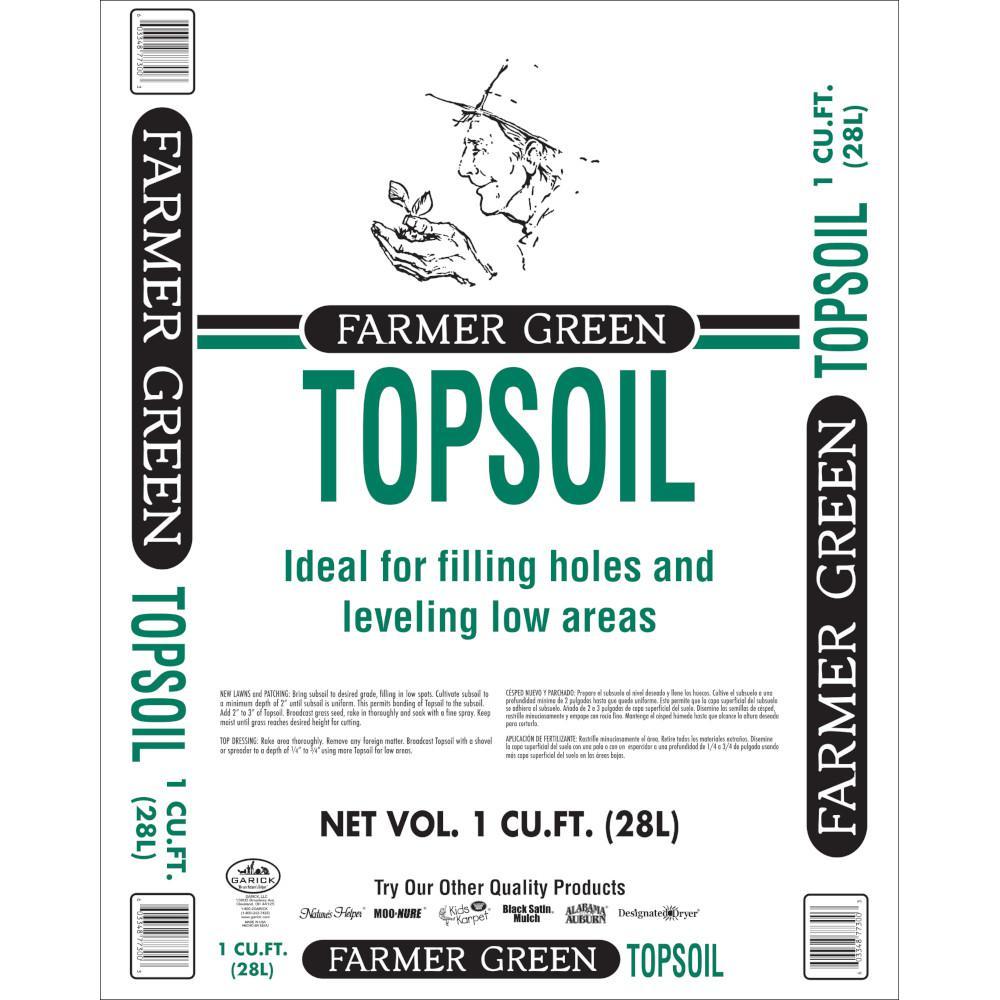 1 cu. ft. Farmer Green Topsoil