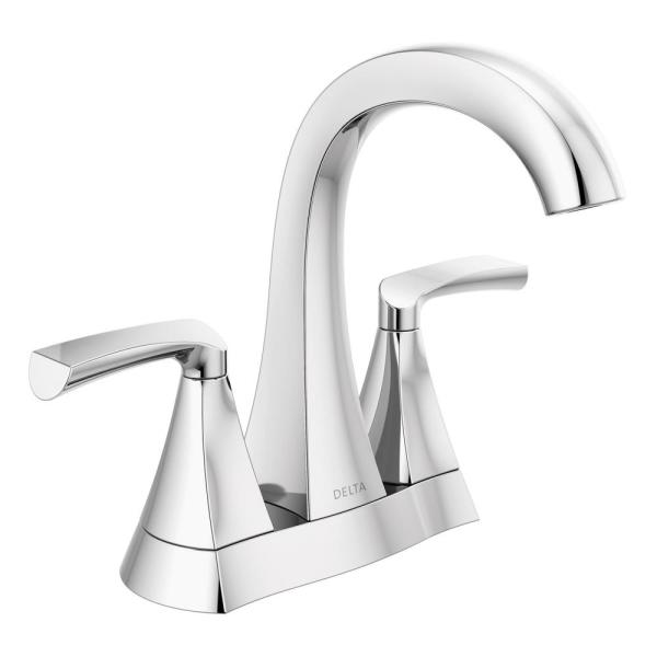 Pierce 4 in. Centerset 2-Handle Bathroom Faucet in Chrome