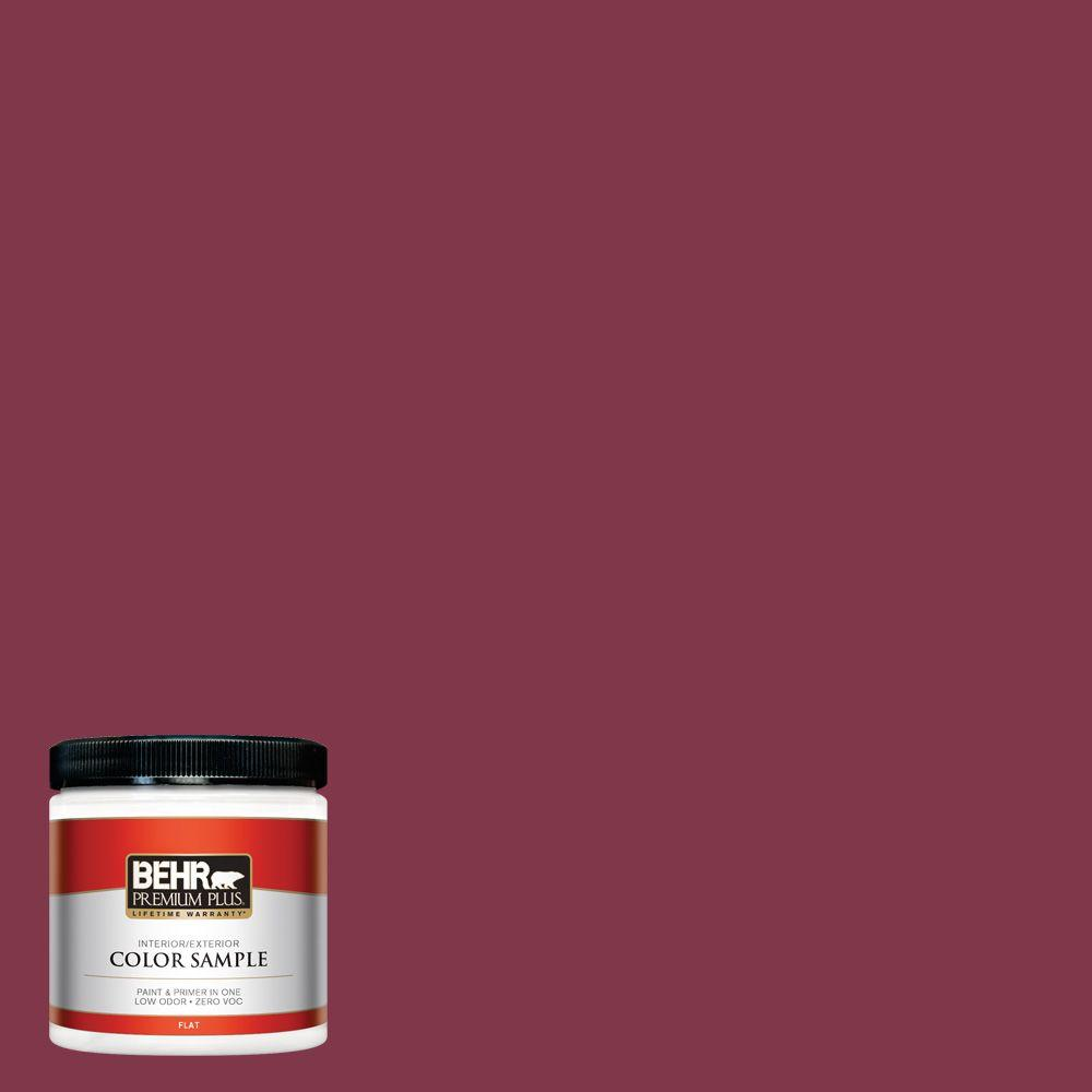 120d 7 Ruby Red Flat Interior Exterior Paint And Primer In One Sample