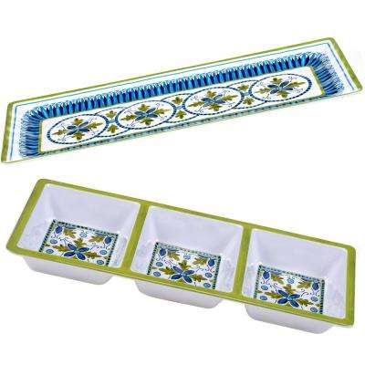 The Blue Grotto Collection 2-Piece Appetizer Set