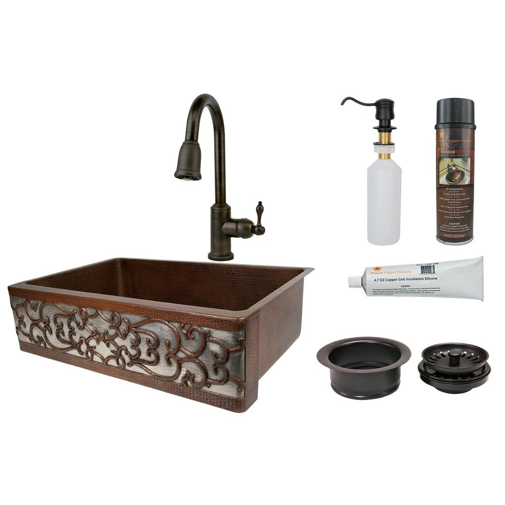 Premier Copper Products All-in-One Dual Mount Copper 33 i...