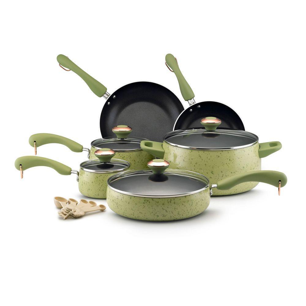 Paula Deen 15 Piece Cookware Set in Green