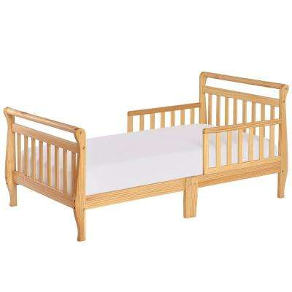 Natural Toddler Adjustable Sleigh Bed