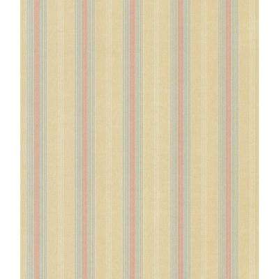 Madison Florals Yellow Stripe Wallpaper Sample