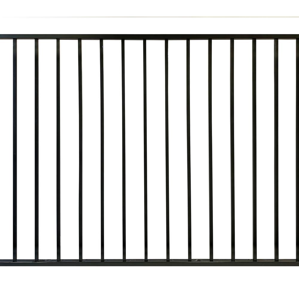 4 ft. x 6 ft. Black Aluminum EZI Fence Panels