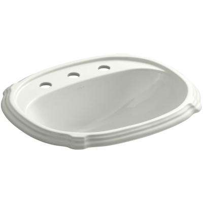 Portrait Drop-In Vitreous China Bathroom Sink in Dune with Overflow Drain