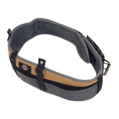 5 in. Padded Work/Tool Belt with Double Roller Buckle, Grey/Tan