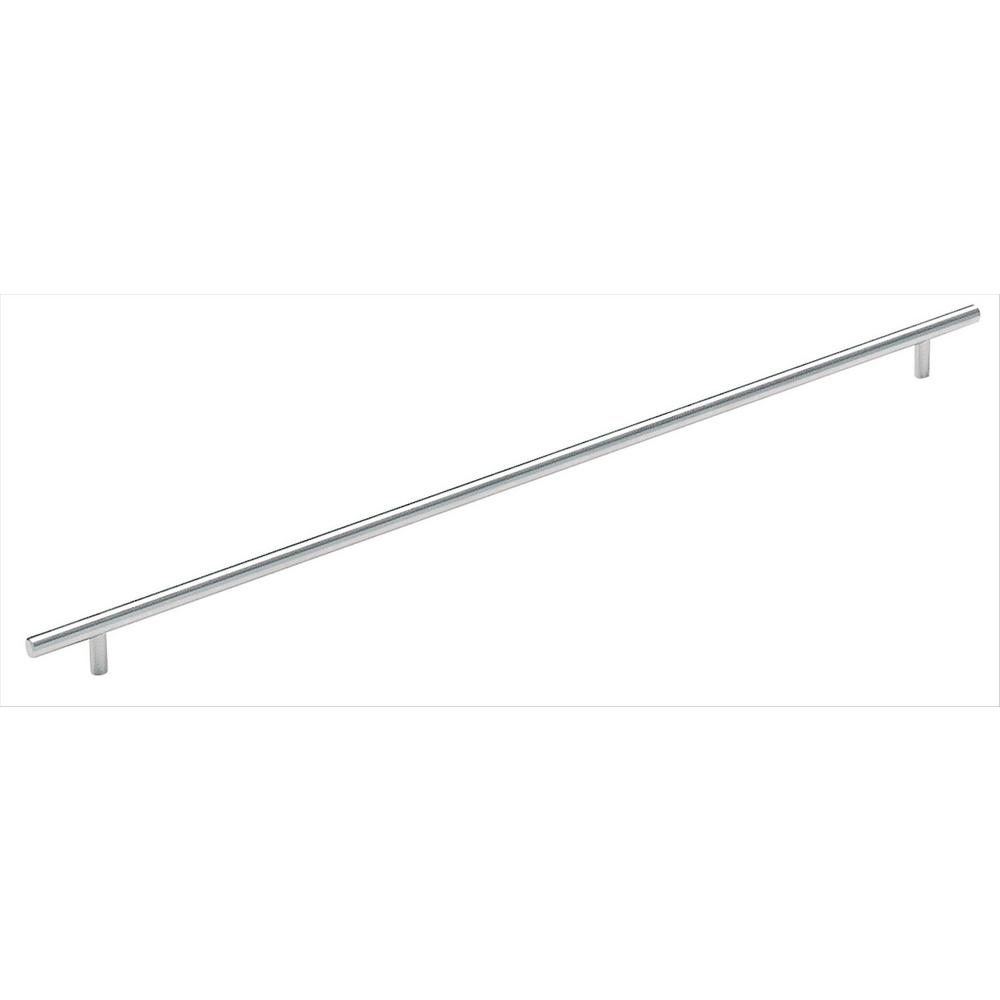 Bar Pulls 21-7/16 in. (544 mm) Center to Center Sterling Nickel Cabinet Pull
