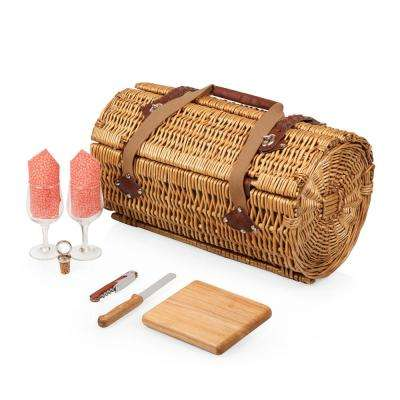 Verona Natural Wood Wine & Cheese Basket