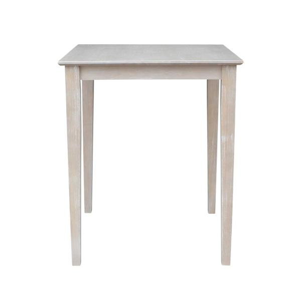 Weathered Taupe Gray 30'' Square Counter-height Table