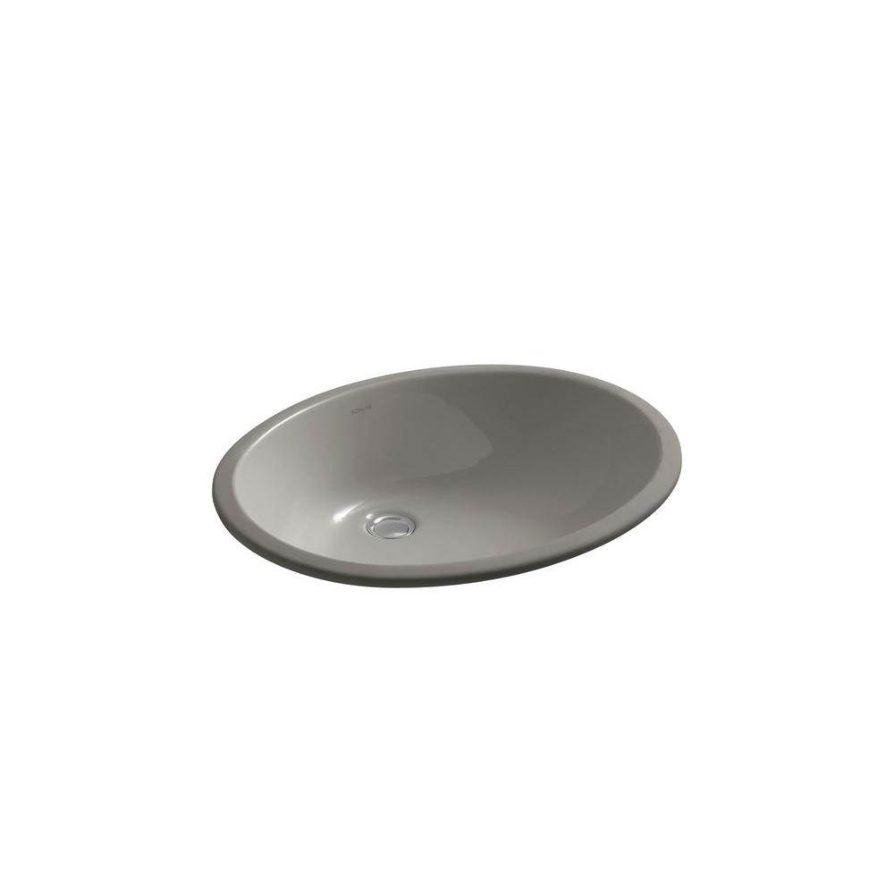Caxton Undercounter Vitreous China Bathroom Sink in Cashmere with Overflow Drain