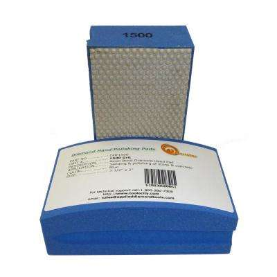 1500-Grit Diamond Hand Polishing Pads Block Type
