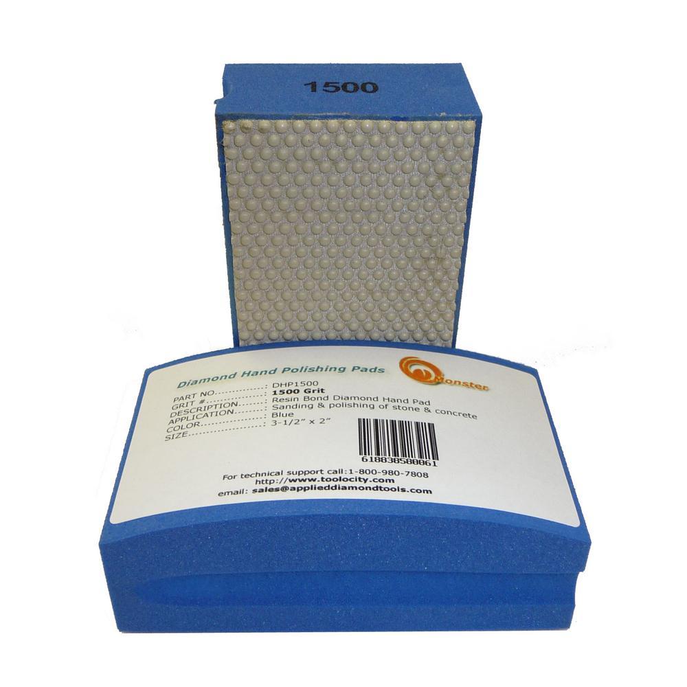 1500-Grit Diamond Hand Polishing Pads Block Type