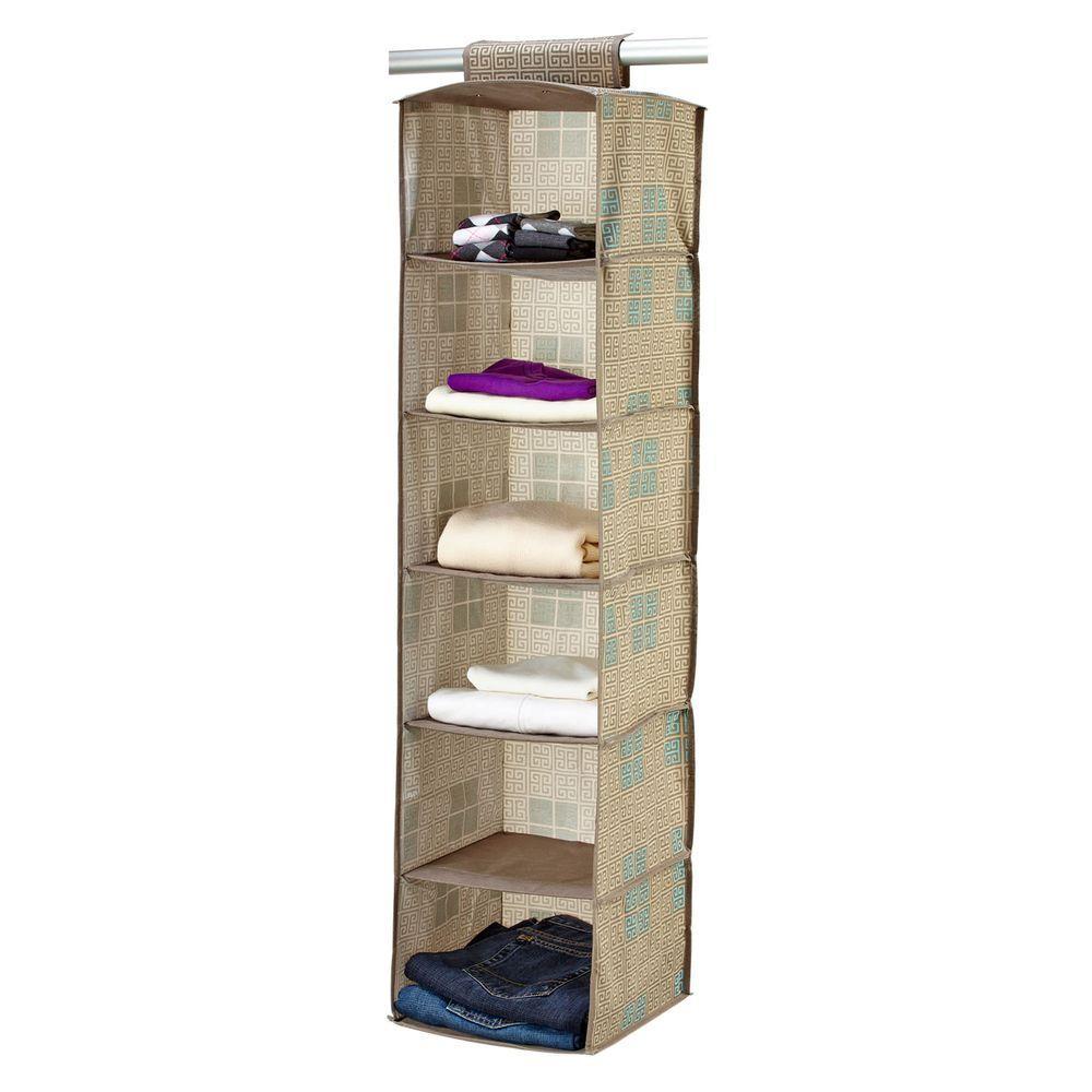 Polypropylene 6-Shelf Organizer in Cameo Key Taupe