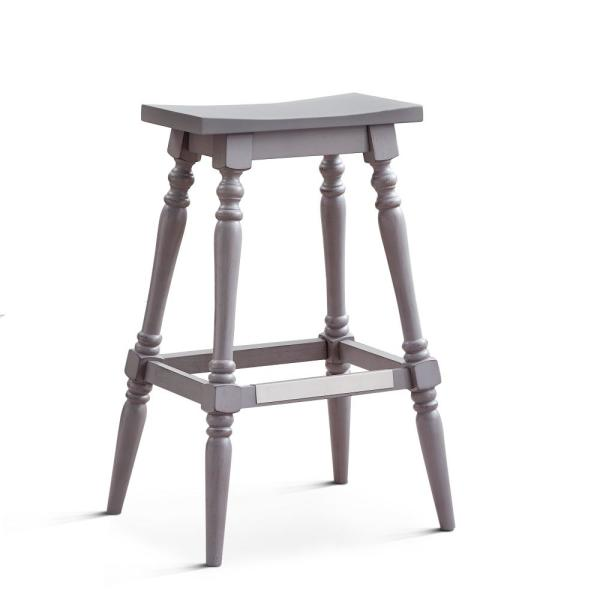 American Woodcrafters Trevan 24 In Grey Backless Counter