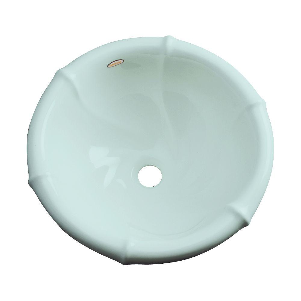 null Waverly Drop-In Bathroom Sink in Seafoam