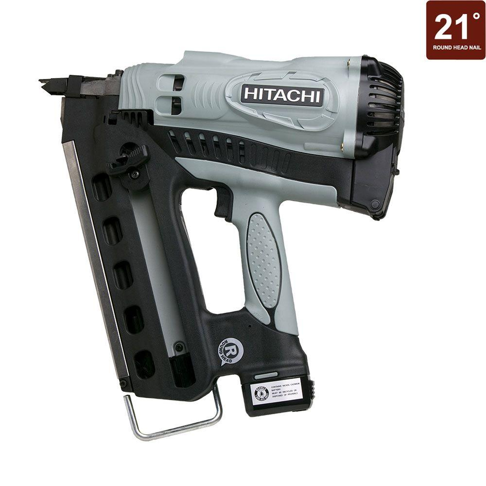 Hitachi 3-1/2 in. Cordless Gas Powered Plastic Strip Collated Framing Nailer