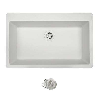 All-in-One Drop-in Composite Granite 33 in. Single Bowl Kitchen Sink