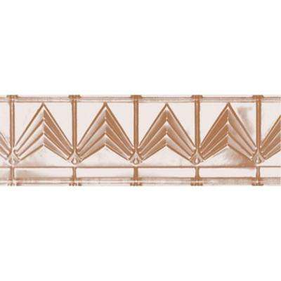 6 in. x 4 ft. x 6 in. Satin Copper Nail-up/Direct Application Tin Ceiling Cornice (6-Pack)