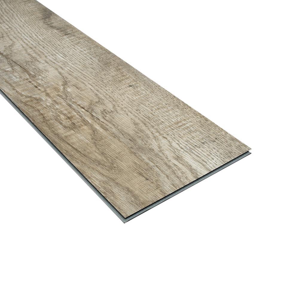 Lifeproof Buckhorn Gray Oak 7 5 In X 48 In Rigid Core Luxury Vinyl Plank Flooring 17 55 Sq Ft Carton 360721 The Home Depot