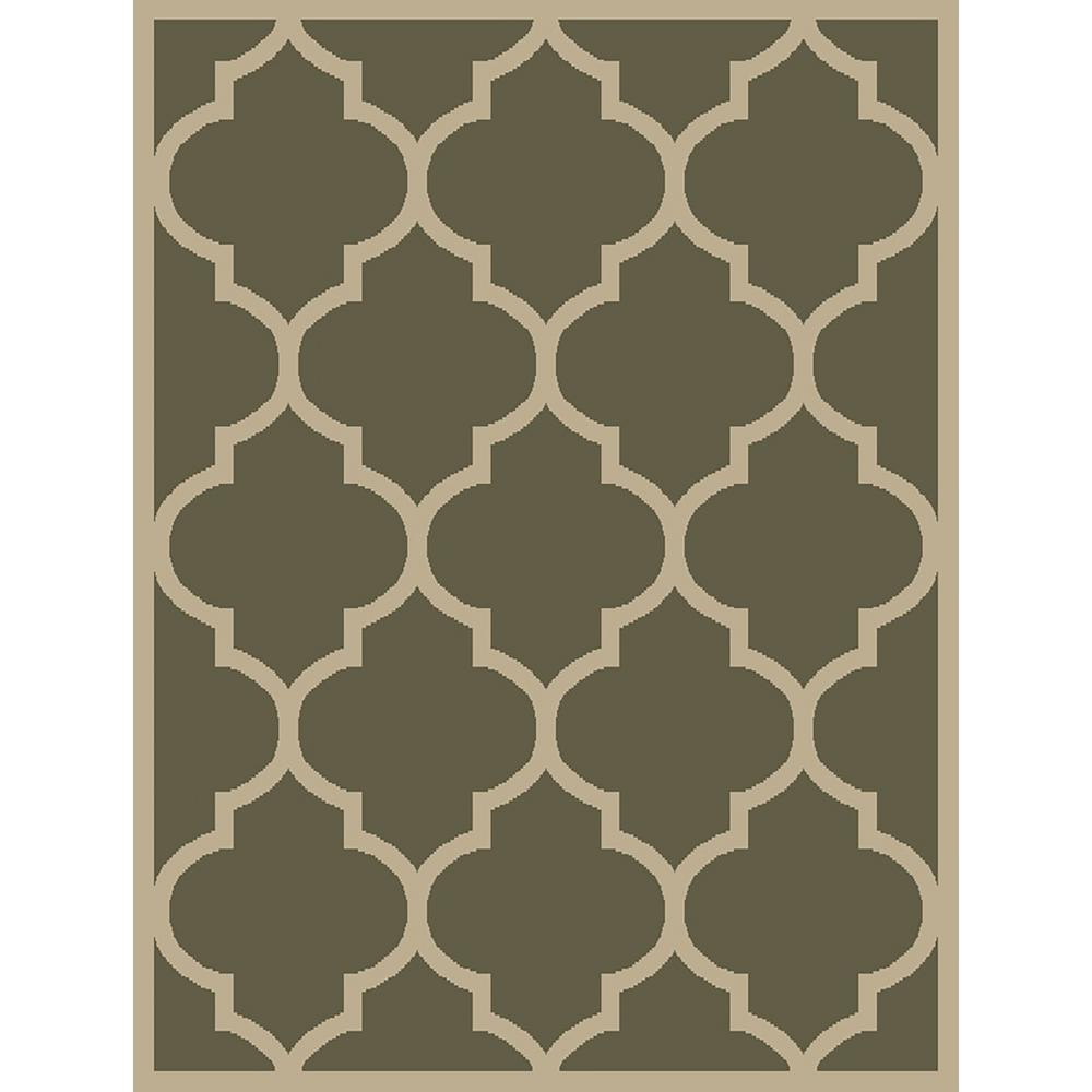 MAXY HOME Pasha Collection Green 5 ft. x 7 ft. Area Rug