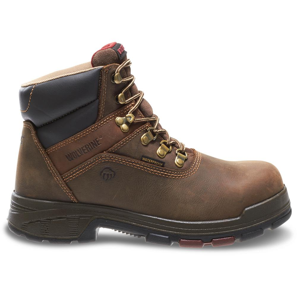 c7f38300f29bf Wolverine Men's Cabor Size 9.5EW Dark Brown Nubuck Leather Waterproof 6 in.  Boot