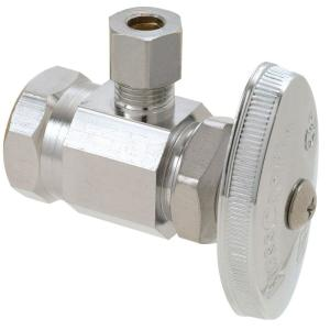 Brasscraft 1/2 inch FIP Inlet x 1/4 inch O.D. Compression Outlet Multi-Turn Angle Valve by BrassCraft