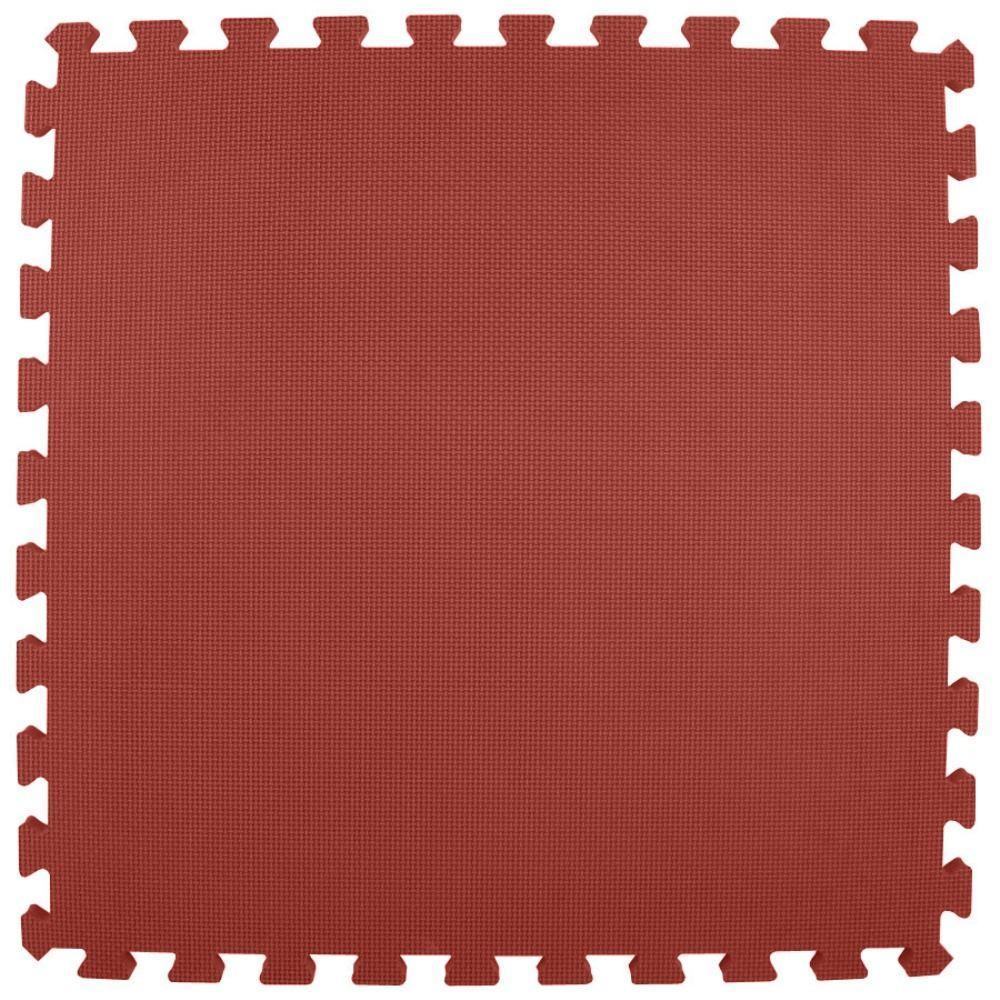 Premium Burgundy 24 in. x 24 in. x 5/8 in. Foam Interlocking Floor Mat (Case of 25)