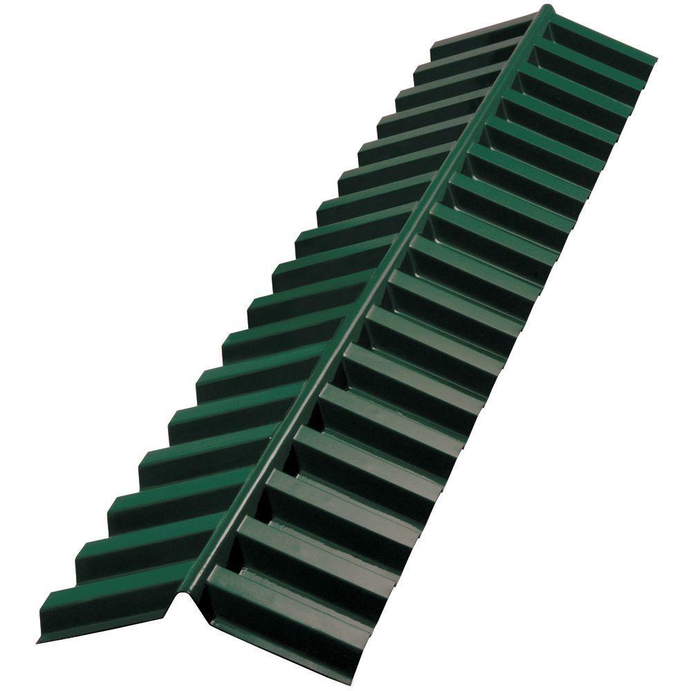 Suntuf 4 ft. Hunter Green Polycarbonate Corrugated Ridge Cap-DISCONTINUED