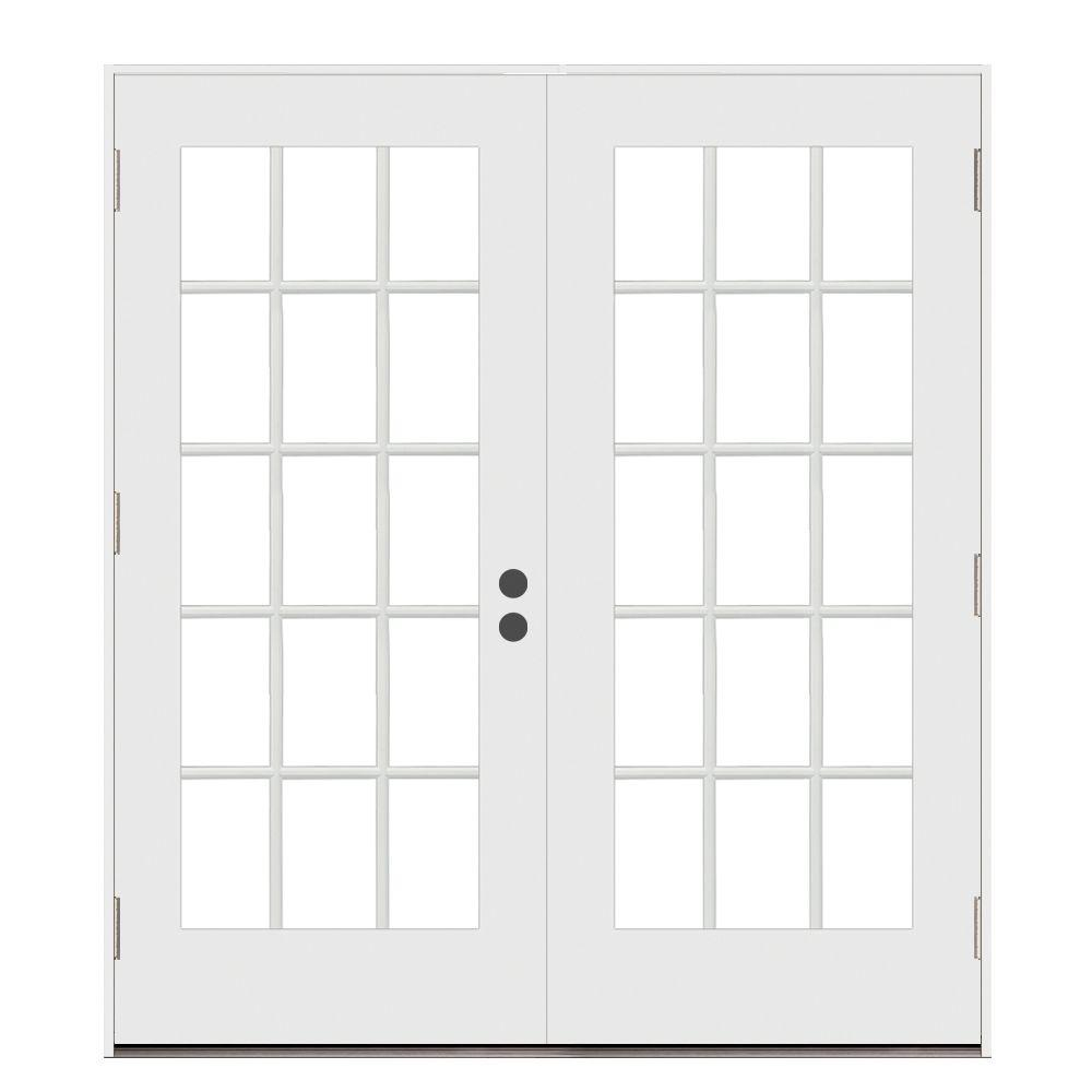 Wonderful JELD WEN 72 In. X 80 In. Steel White Left Handed Outswing