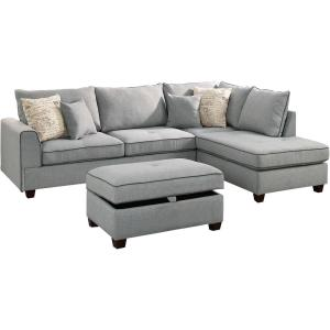 Awesome Venetian Worldwide Siena 3 Piece Sectional Sofa In Light Gmtry Best Dining Table And Chair Ideas Images Gmtryco