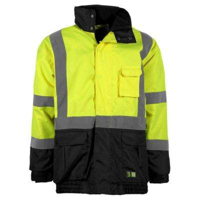 Men's Large Hi-Visibility Waterproof Jacket