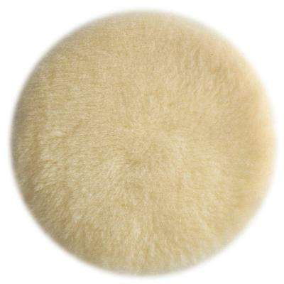 6 in. Tan Lambs Wool Polishing Pad