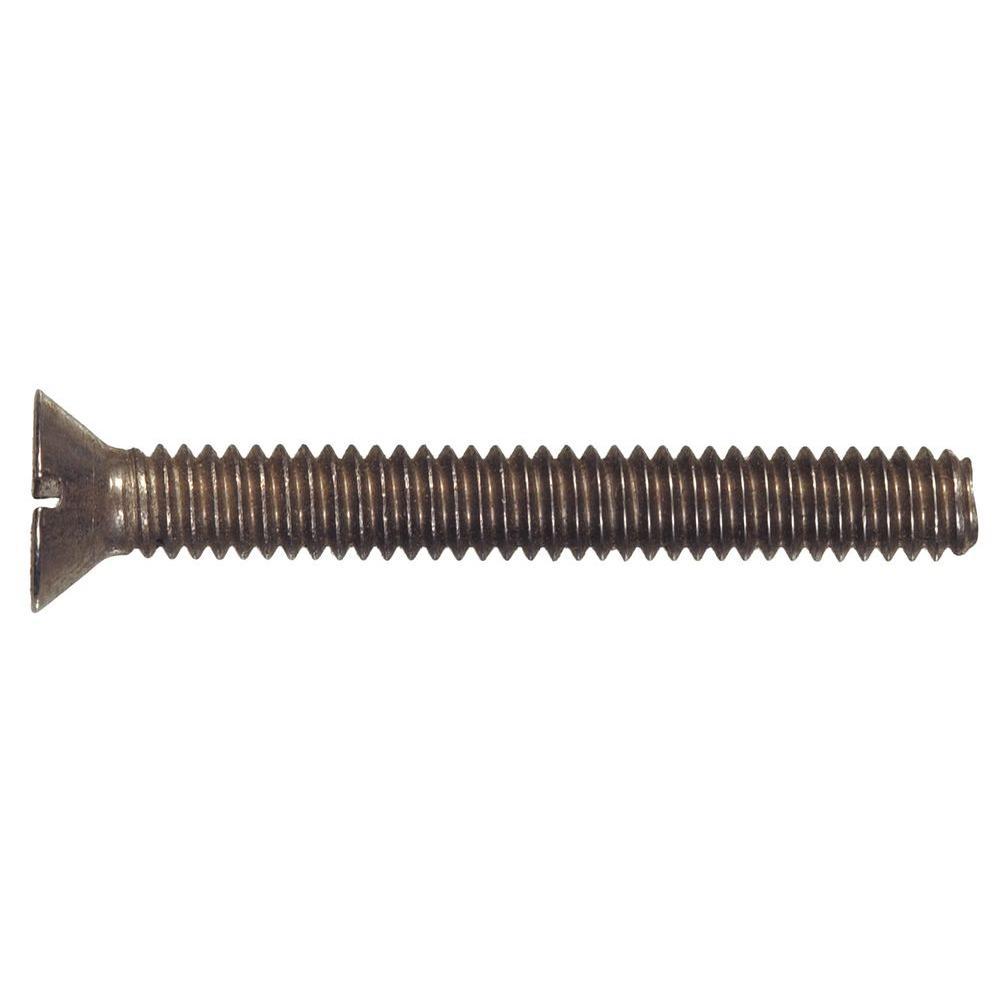 #8-32 x 3/4 in. Slotted Flat-Head Machine Screws (30-Pack)