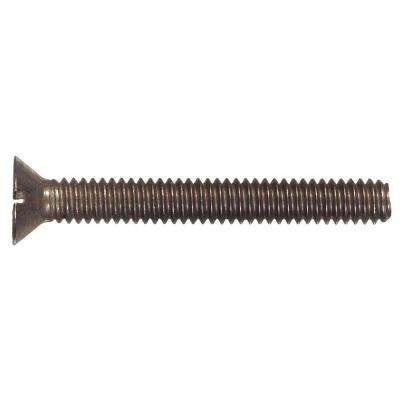 #10-24 x 3/4 in. Slotted Flat-Head Machine Screws (25-Pack)