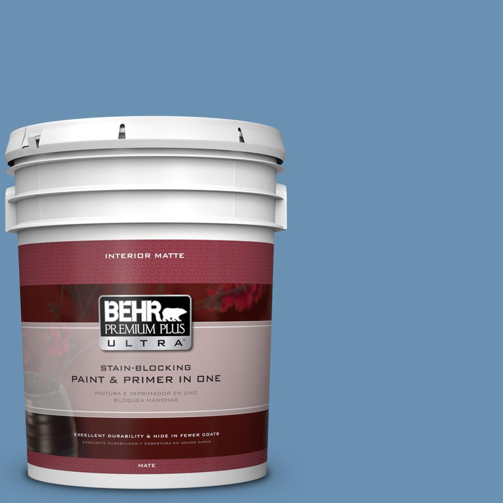 BEHR Premium Plus Ultra 5 gal. #M510-4 Brittany Blue Matte Interior Paint
