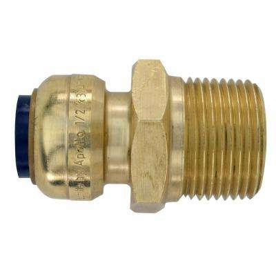1/2 in. Brass Push-to-Connect x 3/4 in. Male Pipe Thread Reducing Adapter
