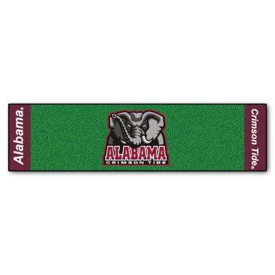 NCAA University of Alabama 1 ft. 6 in. x 6 ft. Indoor 1-Hole Golf Practice Putting Green