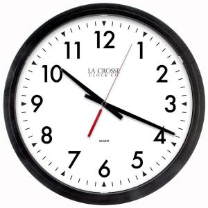 La Crosse Technology 14 inch W x 14 inch H Black Round Commercial Analog Wall Clock by La Crosse Technology