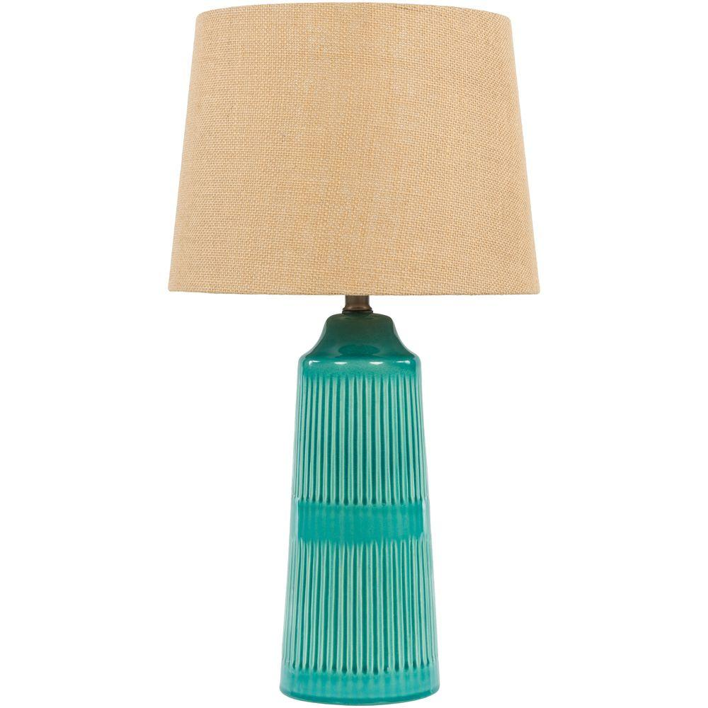 Tomlinson 23 in. Blue Indoor Table Lamp