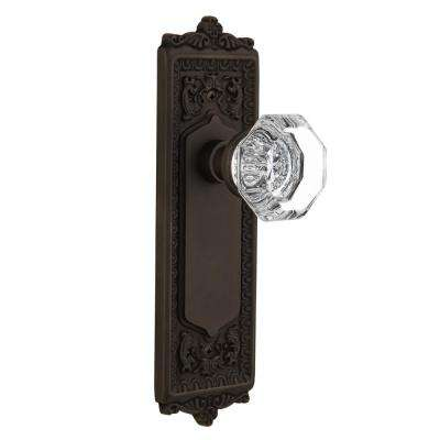 Egg and Dart Plate 2-3/8 in. Backset Oil-Rubbed Bronze Privacy Bed/Bath Waldorf Door Knob