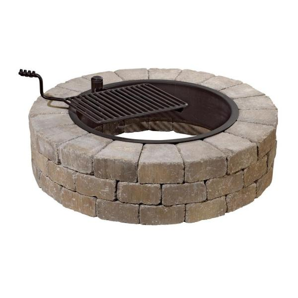 Necessories Grand 48 in. Fire Pit Kit in Santa Fe with Cooking Grate