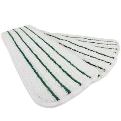 18 in. White Striped Microfiber Wet Mop Scrubbing Pad (3-Pack)