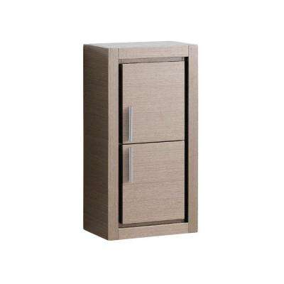 Allier 16 in. W x 30 in. H x 10 in. D Bathroom Linen Storage Cabinet in Gray Oak