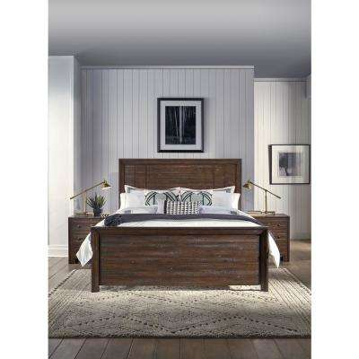 Corwin Distressed Mohagany King Bed