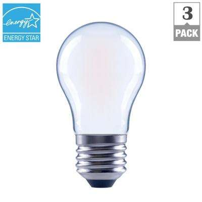 40-Watt Equivalent A15 Dimmable Frosted Filament LED Light Bulb, Soft White (3-Pack)