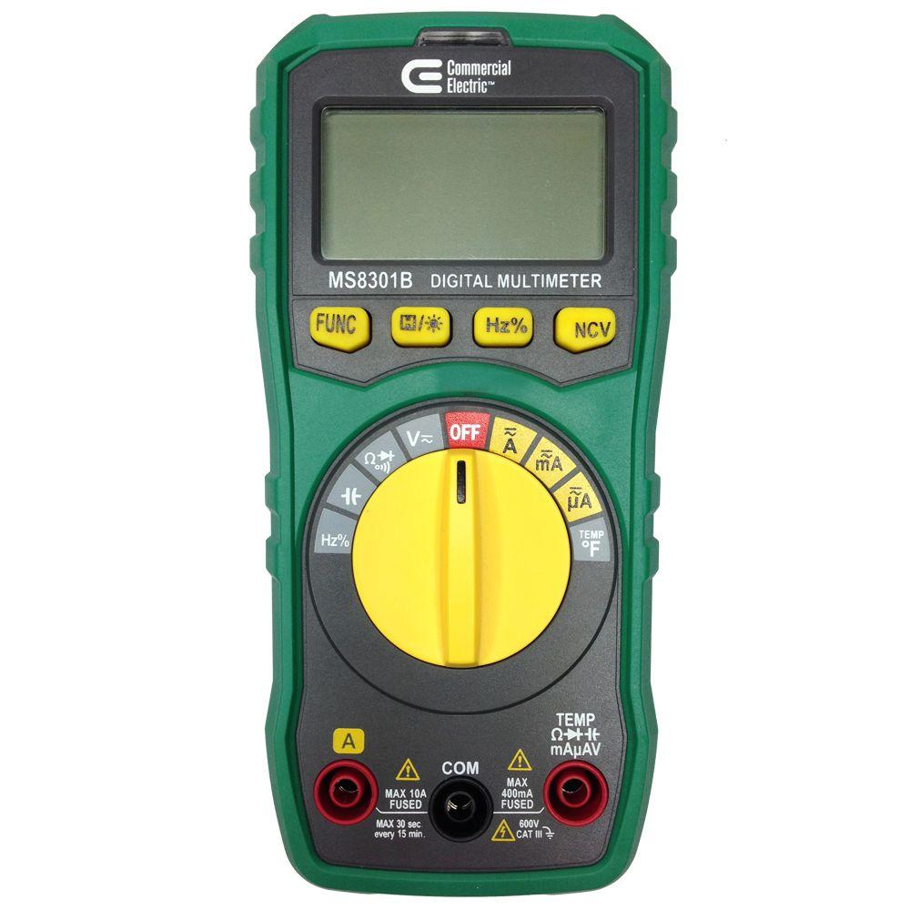 Commercial Electric Auto Ranging Multimeter 600V